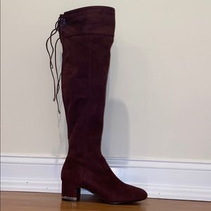 Michael Kors Burgundy Jamie Mid-Stretch Boots